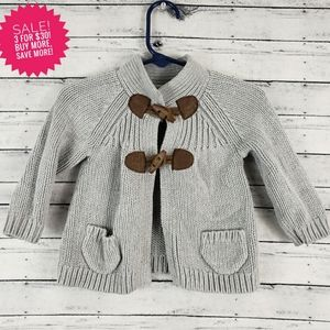 OshKosh Baby Gray Toggle Cardigan Sz 12 Months